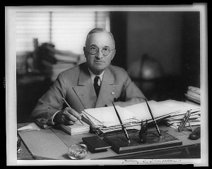 Photo: Harry Truman, the Library of Congress