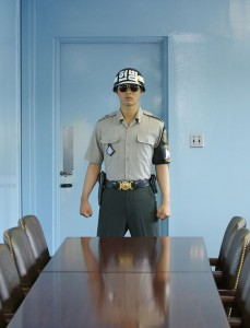 Negotiating Table Inside the Joint Security Area Separating North from South Korea Photo South Korean Government