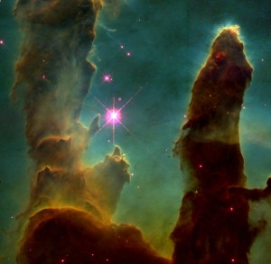 Gas Pillars of the Eagle Nebula--NASA