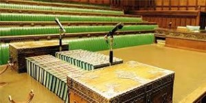 Dispatch Boxes (Lecturns) in the House of Commons Parliament.UK