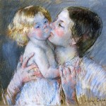 Mary Cassatt, A Kiss for Baby Anne Wikiart.org