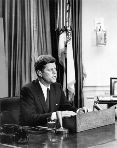 President Kennedy in the Oval Office, 1963